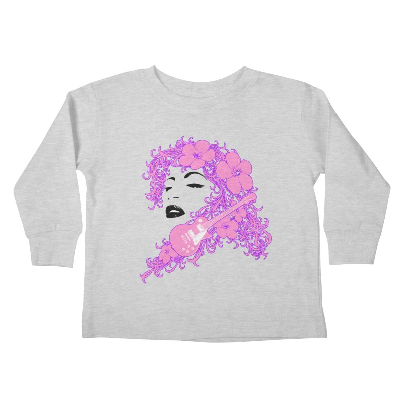 Lady Flo Kids Toddler Longsleeve T-Shirt by Ideacrylic Shop