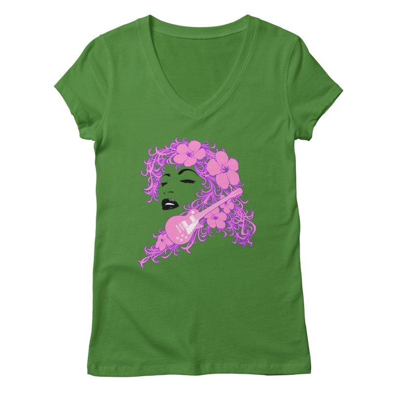 Lady Flo Women's Regular V-Neck by Ideacrylic Shop