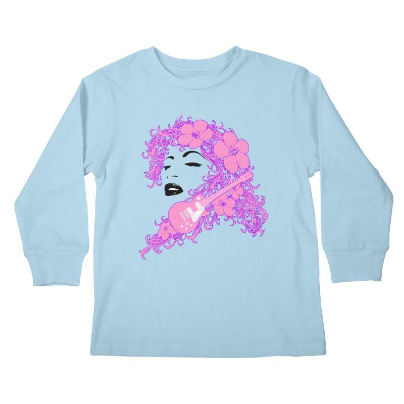 Lady Flo Kids Longsleeve T-Shirt by Ideacrylic Shop