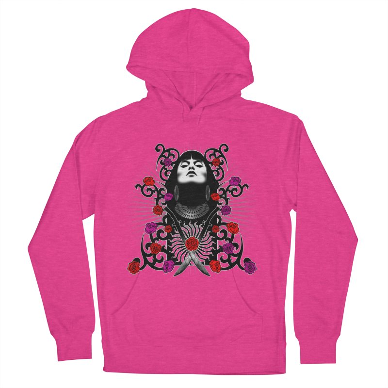 Barbara Women's French Terry Pullover Hoody by Ideacrylic Shop