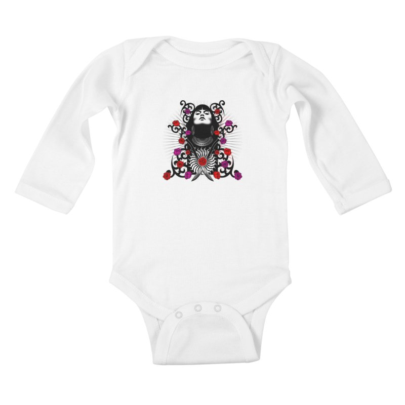 Barbara Kids Baby Longsleeve Bodysuit by Ideacrylic Shop