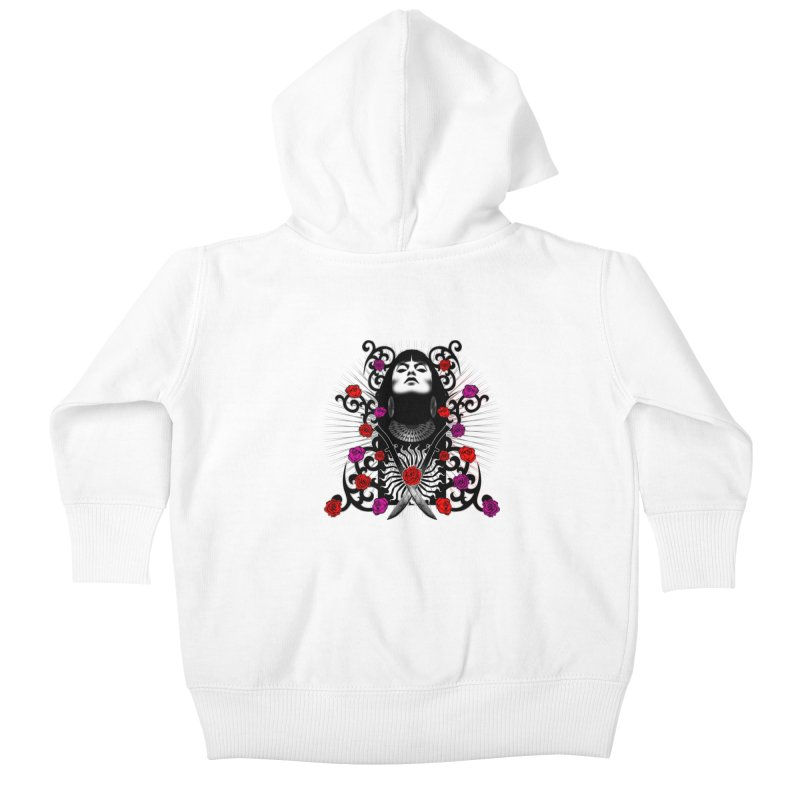 Barbara Kids Baby Zip-Up Hoody by Ideacrylic Shop