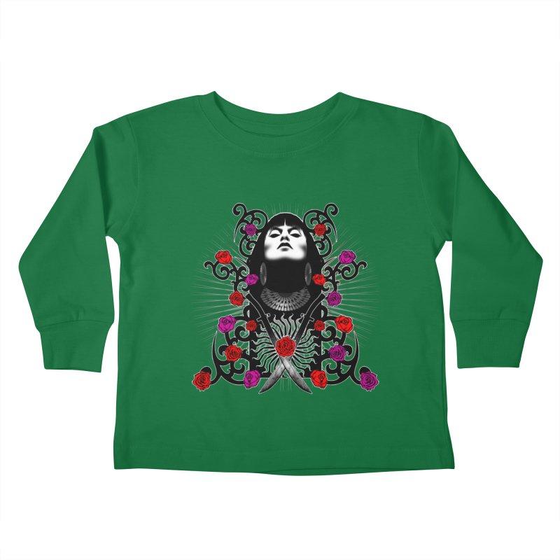 Barbara Kids Toddler Longsleeve T-Shirt by Ideacrylic Shop