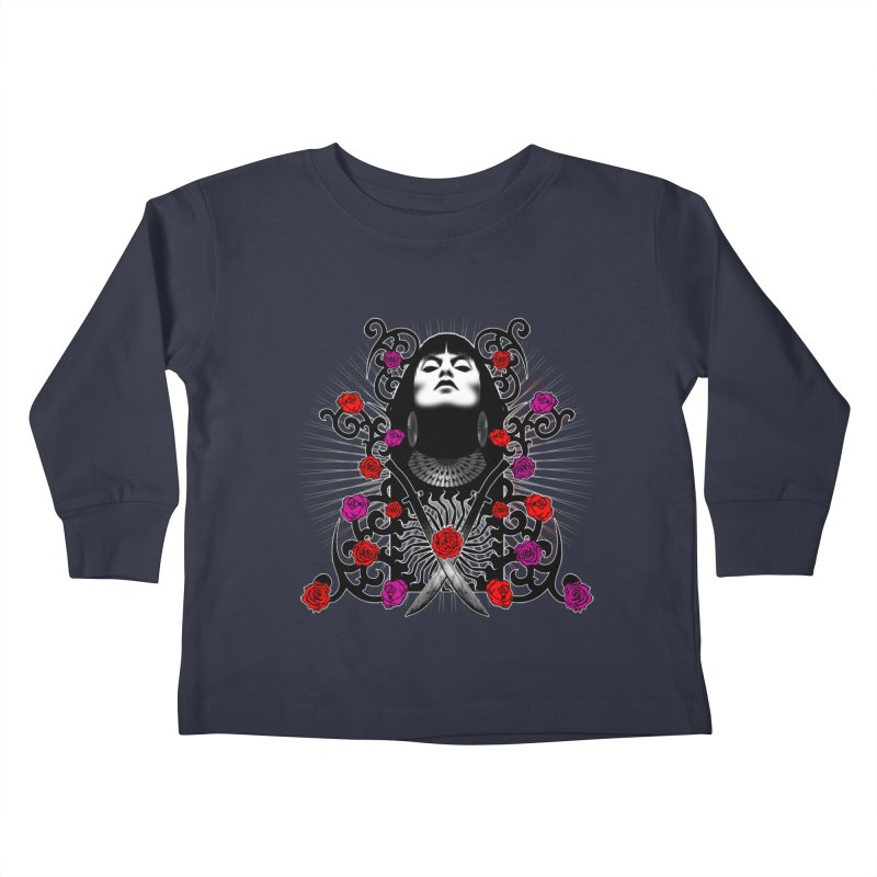 Barbara Kids Toddler Longsleeve T-Shirt by Ideacrylic Shop