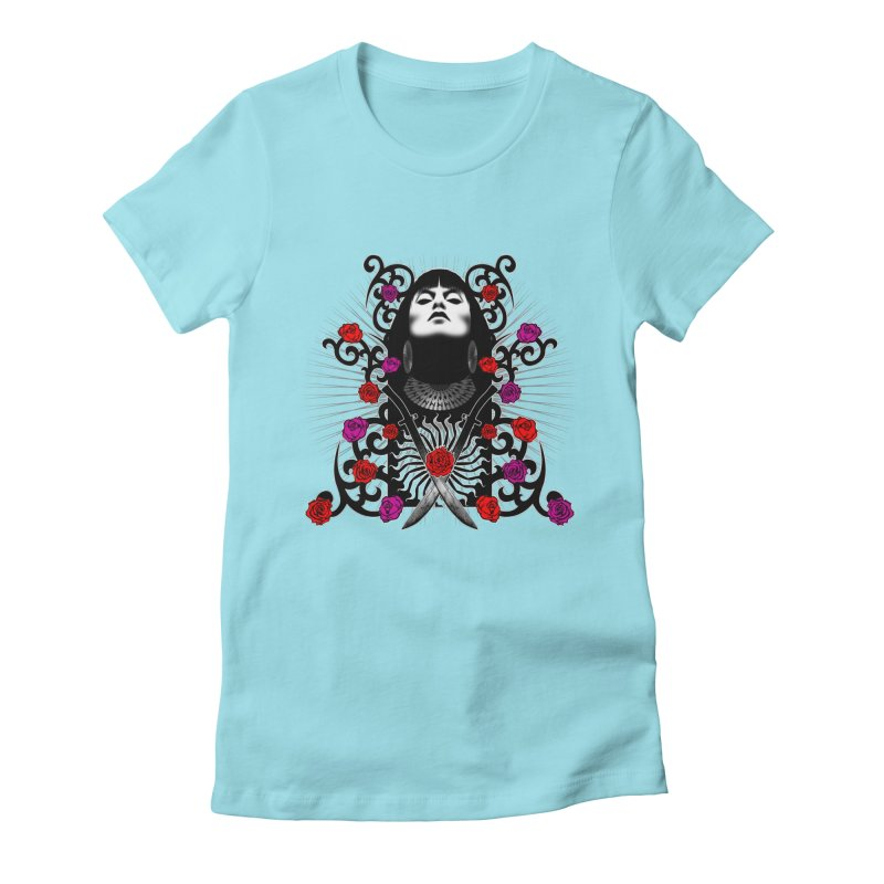 Barbara Women's Fitted T-Shirt by Ideacrylic Shop