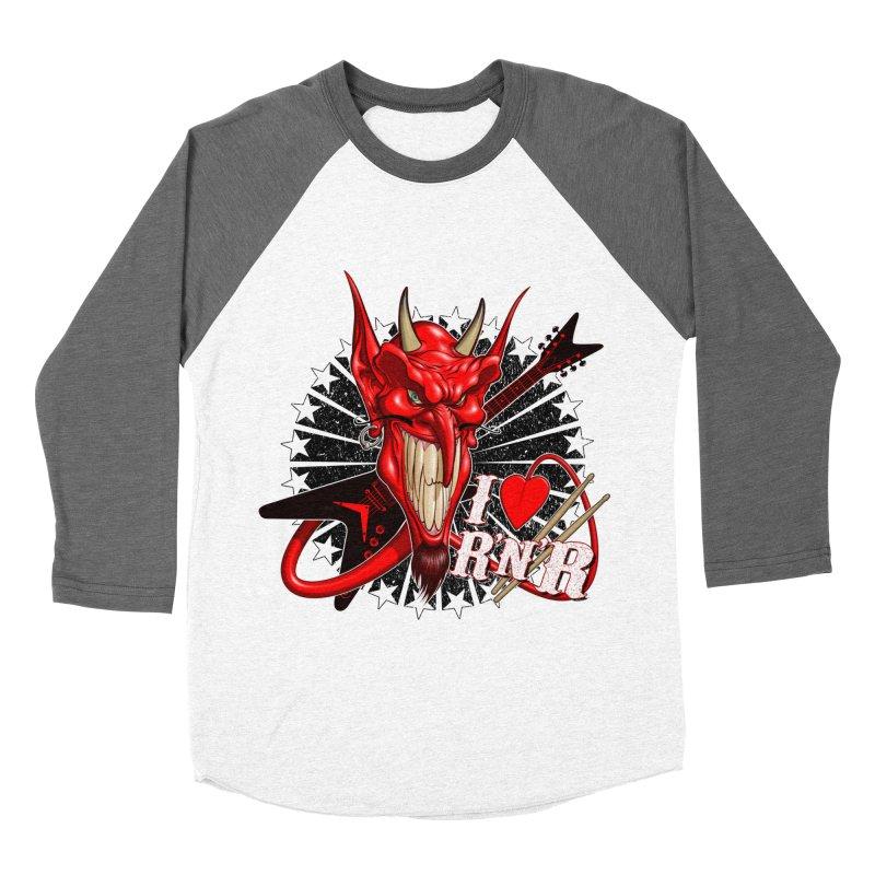 I ❤ R'n'R  Women's Longsleeve T-Shirt by Ideacrylic Shop