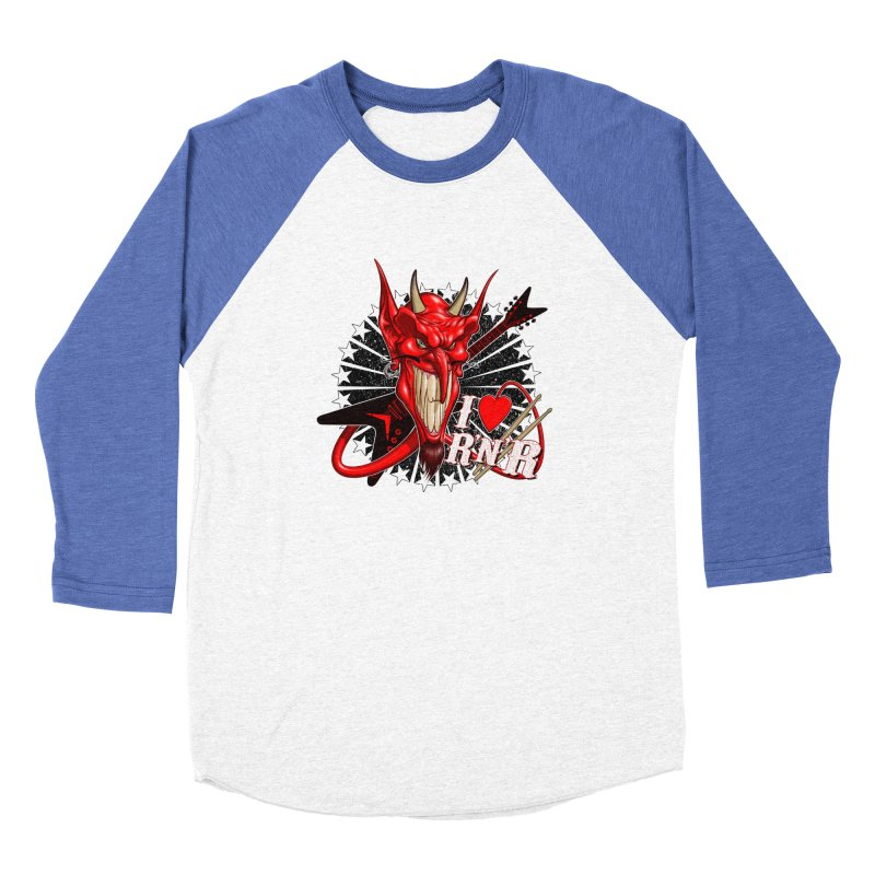 I ❤ R'n'R  Women's Baseball Triblend Longsleeve T-Shirt by Ideacrylic Shop