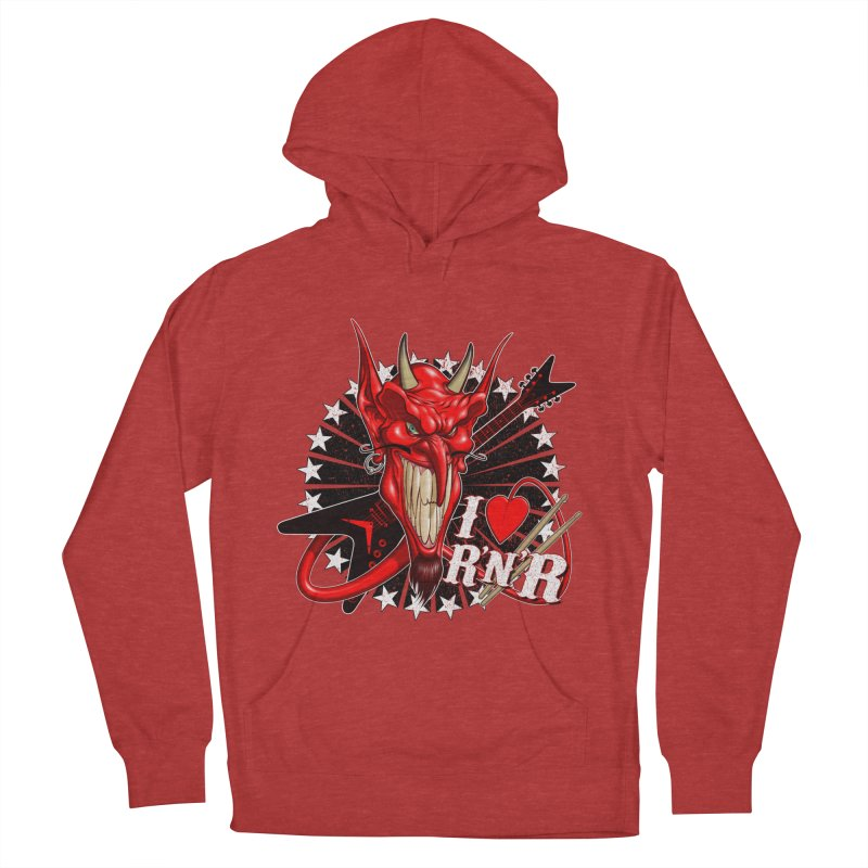 I ❤ R'n'R  Men's French Terry Pullover Hoody by Ideacrylic Shop