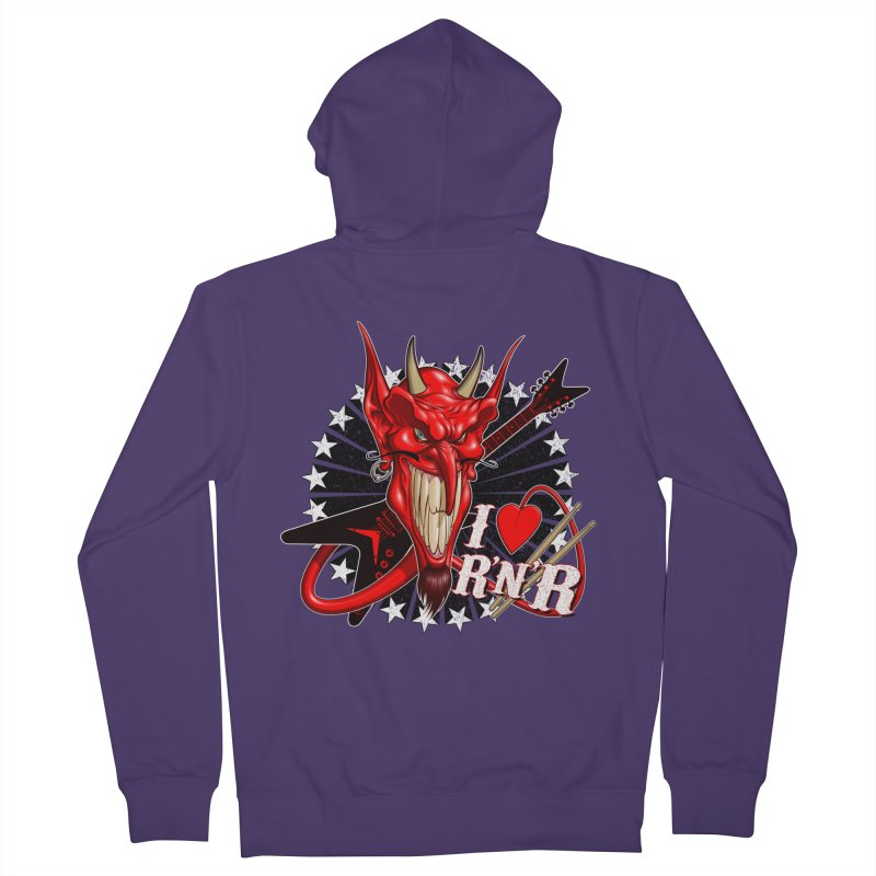 I ❤ R'n'R  Women's French Terry Zip-Up Hoody by Ideacrylic Shop