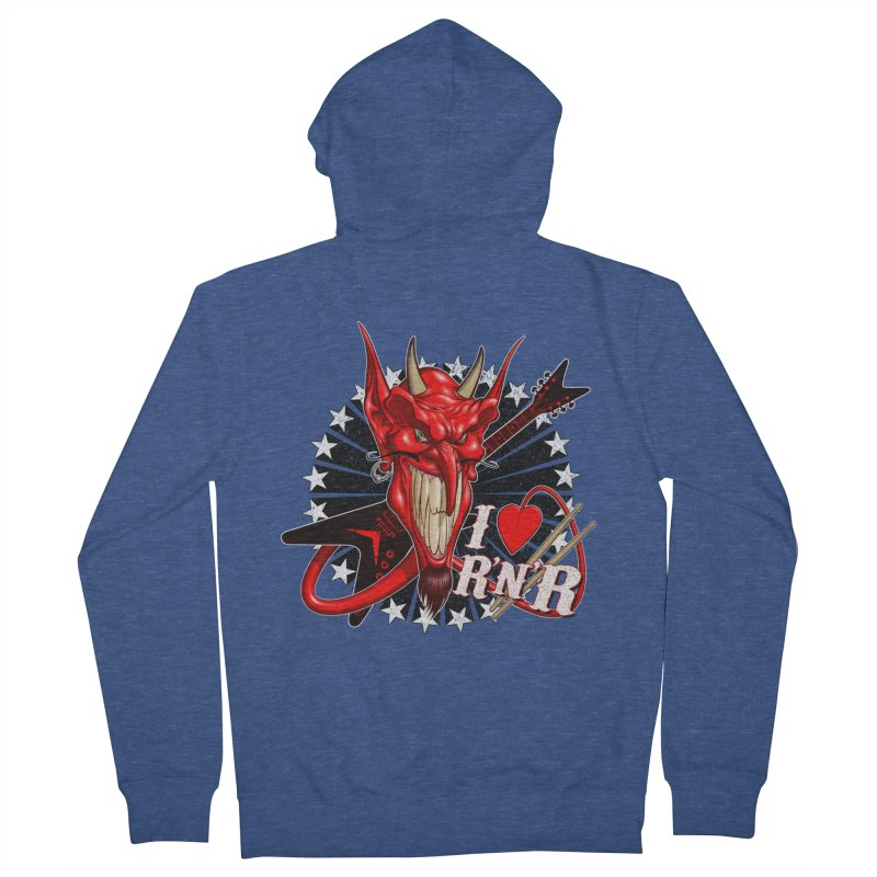 I ❤ R'n'R  Men's French Terry Zip-Up Hoody by Ideacrylic Shop