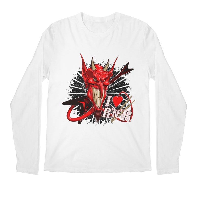 I ❤ R'n'R  Men's Regular Longsleeve T-Shirt by Ideacrylic Shop