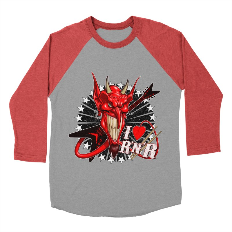 I ❤ R'n'R  Men's Baseball Triblend Longsleeve T-Shirt by Ideacrylic Shop