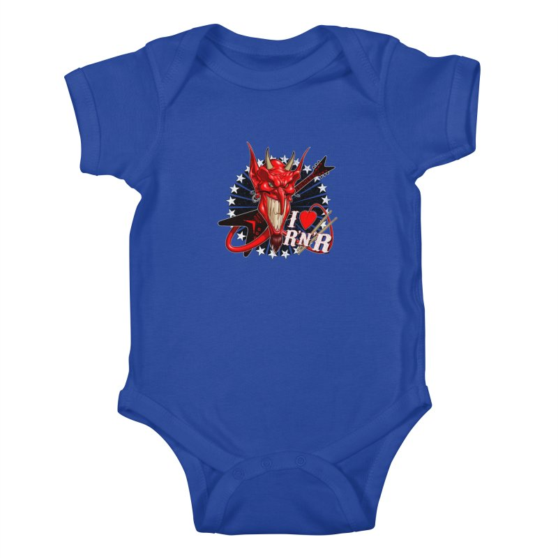 I ❤ R'n'R  Kids Baby Bodysuit by Ideacrylic Shop