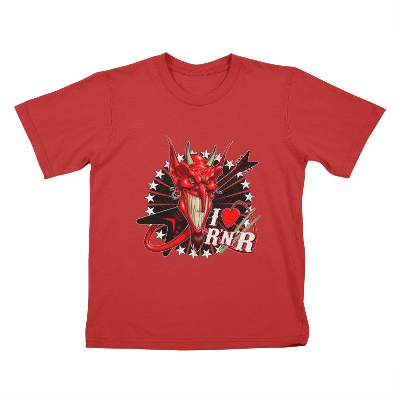 I ❤ R'n'R  Kids T-Shirt by Ideacrylic Shop
