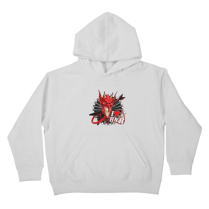 I ❤ R'n'R  Kids Pullover Hoody by Ideacrylic Shop