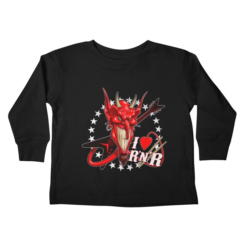 I ❤ R'n'R  Kids Toddler Longsleeve T-Shirt by Ideacrylic Shop