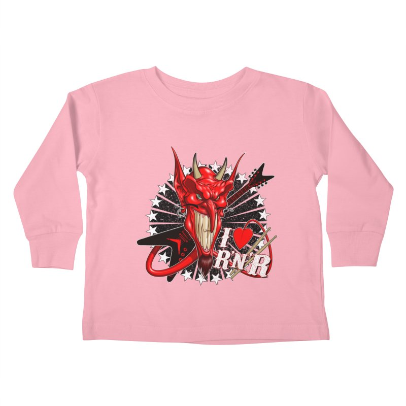 I ❤ R'n'R  Kids Toddler Longsleeve T-Shirt by Ideacrylic Shop