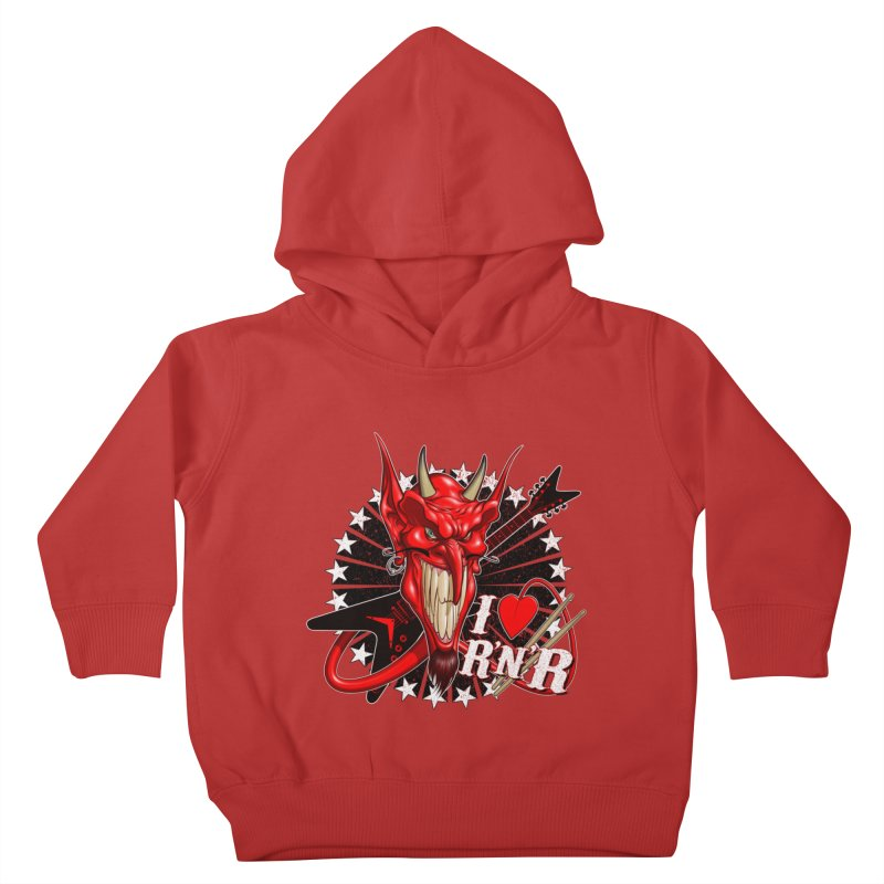 I ❤ R'n'R  Kids Toddler Pullover Hoody by Ideacrylic Shop