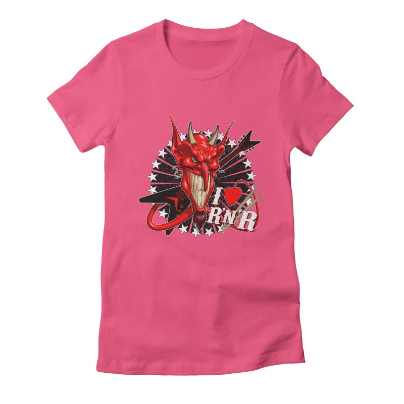 I ❤ R'n'R  Women's Fitted T-Shirt by Ideacrylic Shop