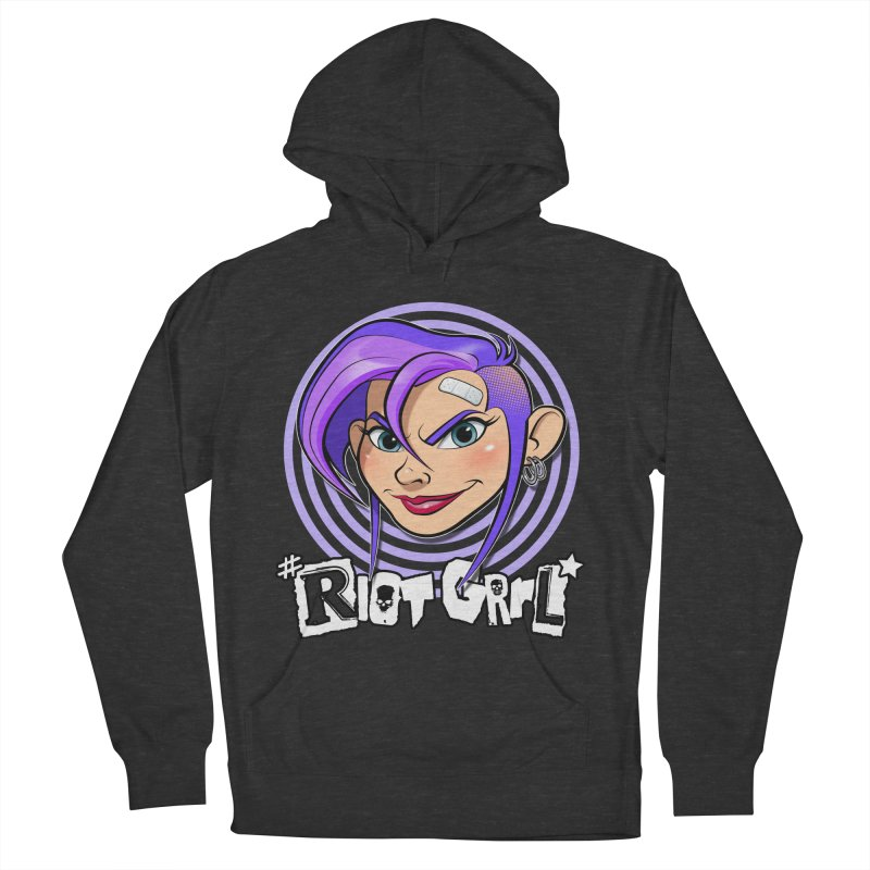 Riot Grrl Women's French Terry Pullover Hoody by Ideacrylic Shop