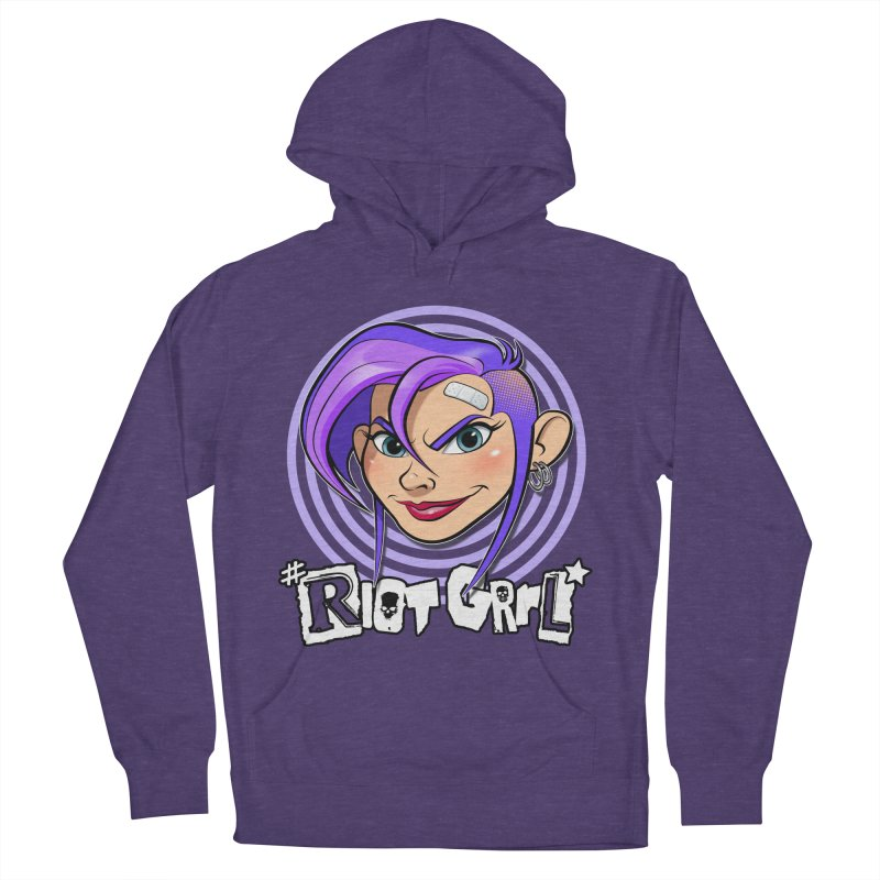 Riot Grrl Men's French Terry Pullover Hoody by Ideacrylic Shop