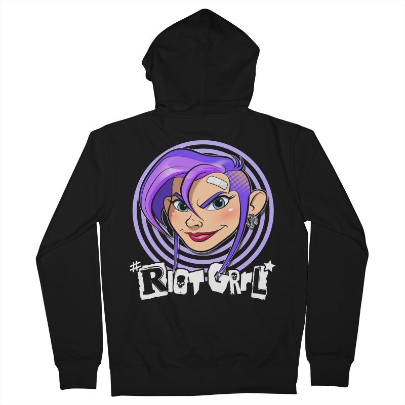 Riot Grrl Women's French Terry Zip-Up Hoody by Ideacrylic Shop