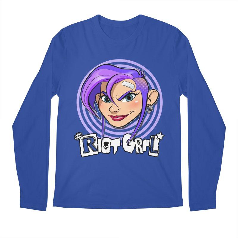 Riot Grrl Men's Regular Longsleeve T-Shirt by Ideacrylic Shop