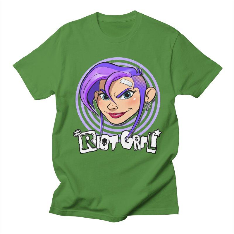 Riot Grrl Men's Regular T-Shirt by Ideacrylic Shop
