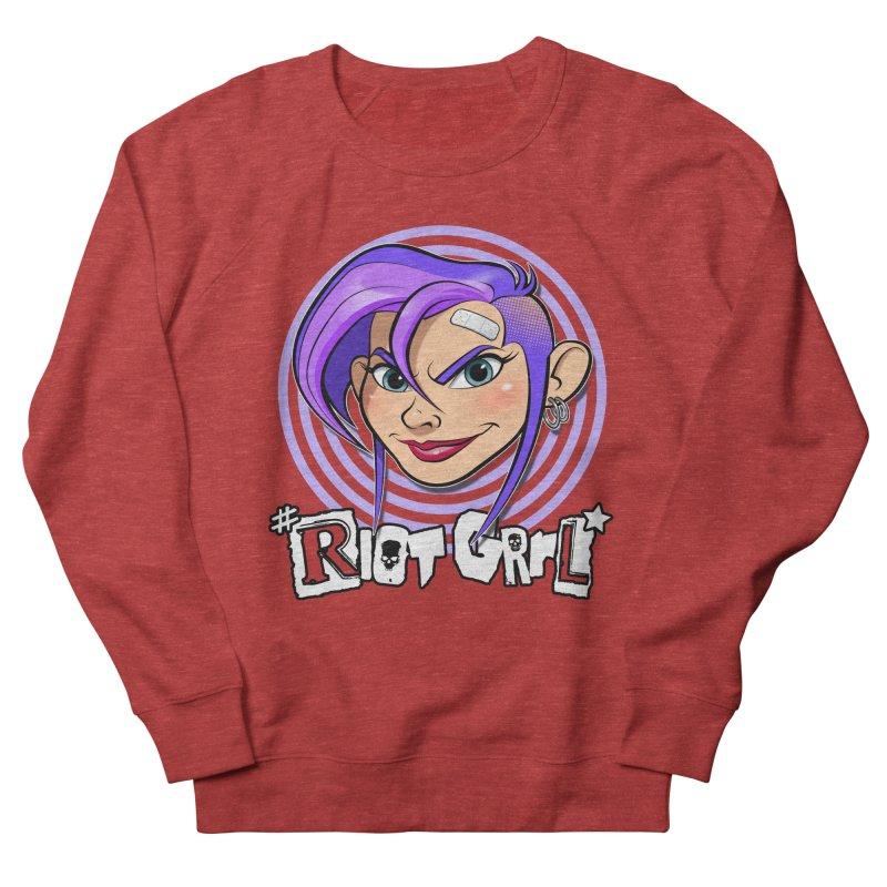 Riot Grrl Men's French Terry Sweatshirt by Ideacrylic Shop