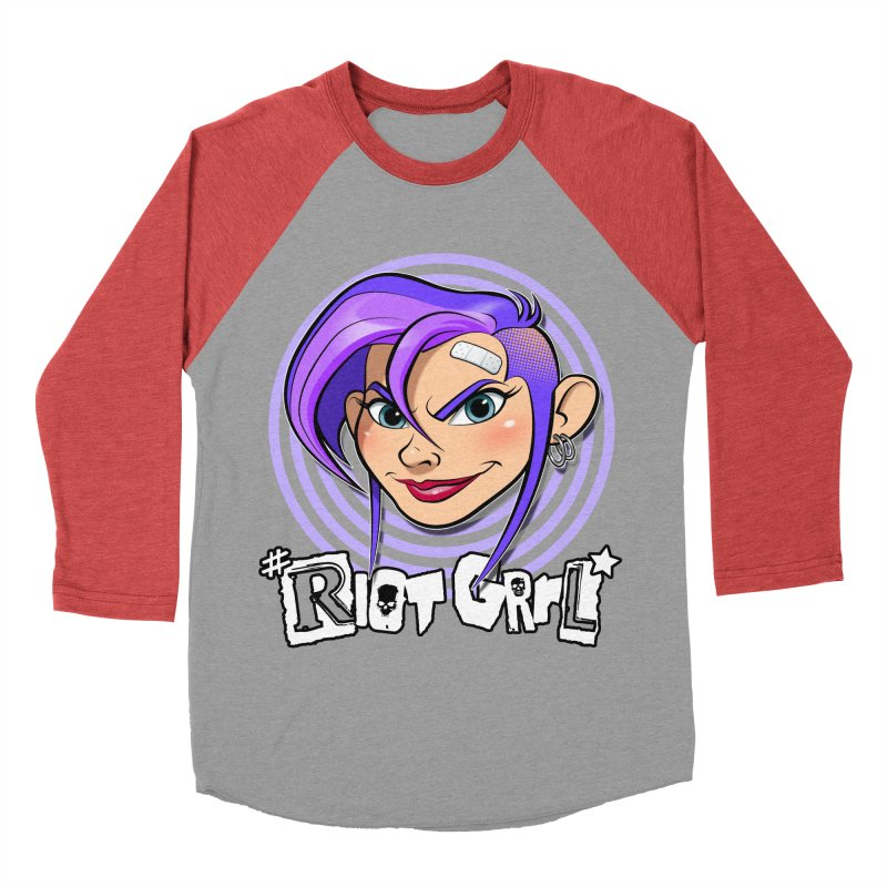 Riot Grrl Women's Baseball Triblend Longsleeve T-Shirt by Ideacrylic Shop