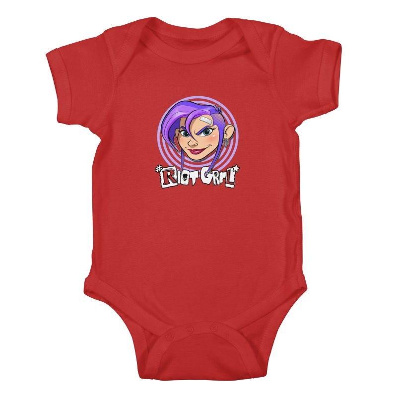 Riot Grrl Kids Baby Bodysuit by Ideacrylic Shop