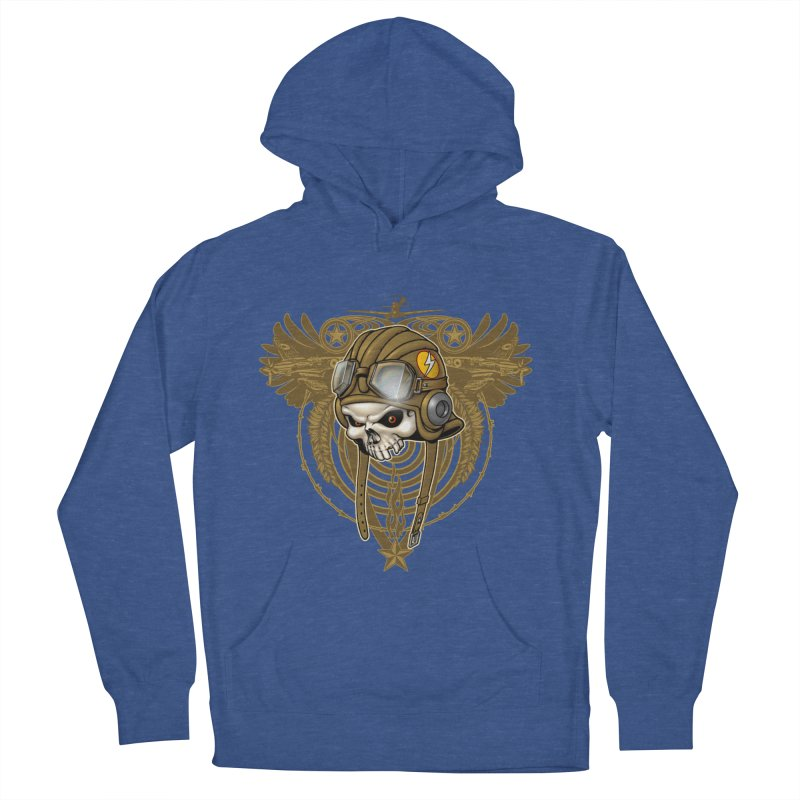 Aviator Men's French Terry Pullover Hoody by Ideacrylic Shop