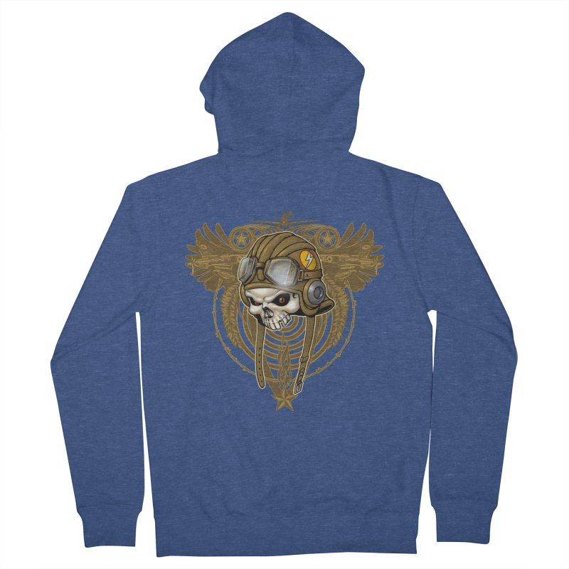 Aviator Men's French Terry Zip-Up Hoody by Ideacrylic Shop