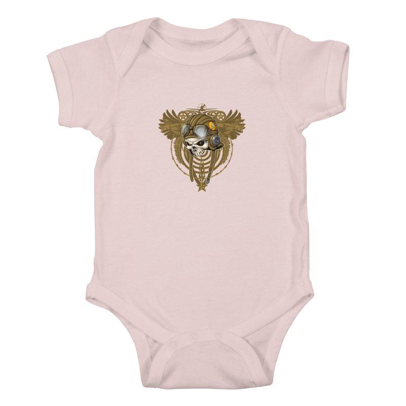Aviator Kids Baby Bodysuit by Ideacrylic Shop