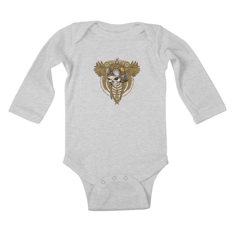 Aviator Kids Baby Longsleeve Bodysuit by Ideacrylic Shop