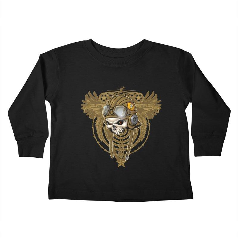 Aviator Kids Toddler Longsleeve T-Shirt by Ideacrylic Shop