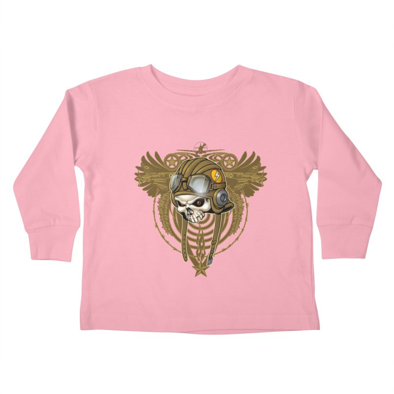 Aviator Kids Toddler Longsleeve T-Shirt by Ideacrylic Shop