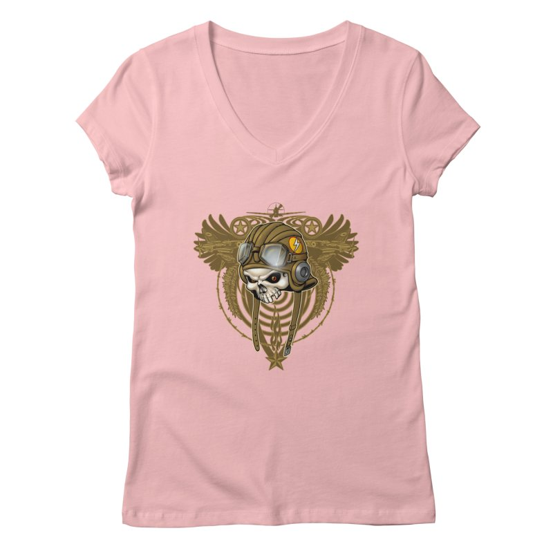 Aviator Women's Regular V-Neck by Ideacrylic Shop