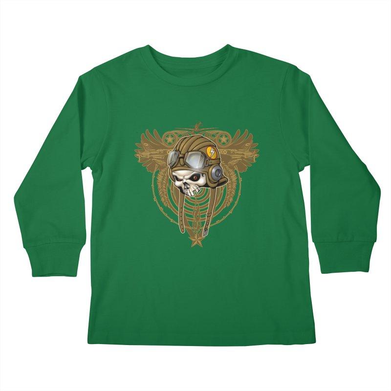 Aviator Kids Longsleeve T-Shirt by Ideacrylic Shop
