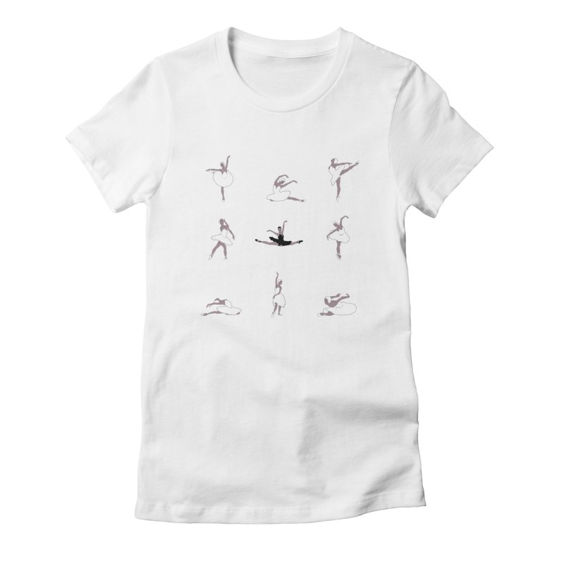 9 Variations from Swan Lake in Women's Fitted T-Shirt White by Ideographo's Artist Shop