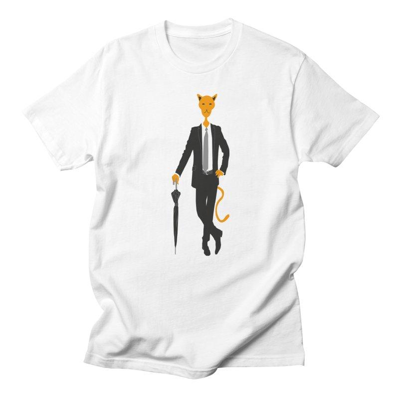 Gentlecat in Men's Regular T-Shirt White by Ideographo's Artist Shop