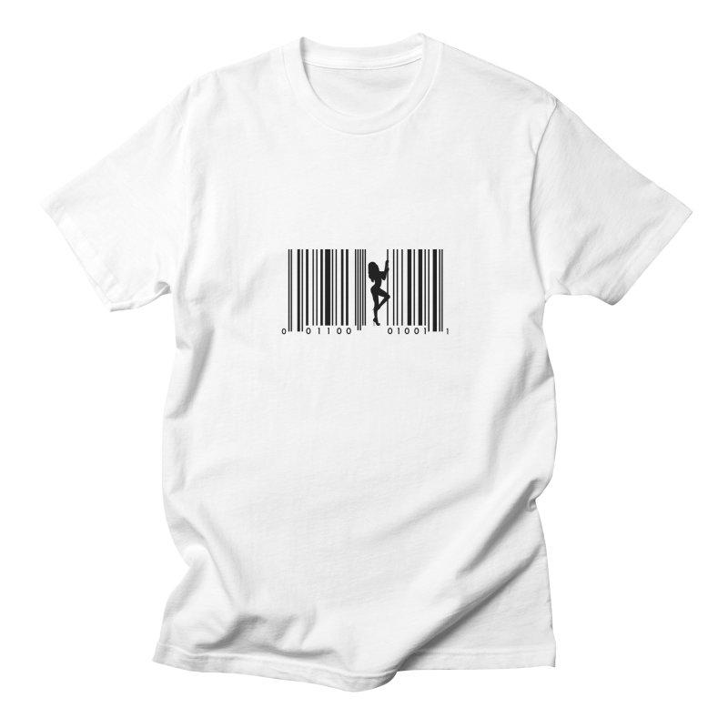 Bar Code in Men's Regular T-Shirt White by Ideographo's Artist Shop