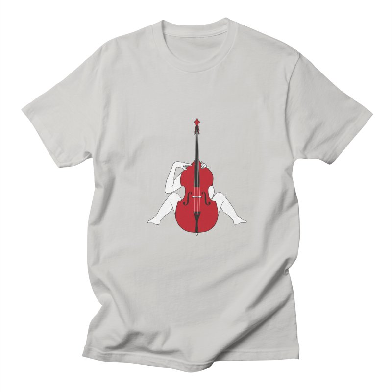 Double Bass Lover in Men's T-Shirt Stone by Ideographo's Artist Shop