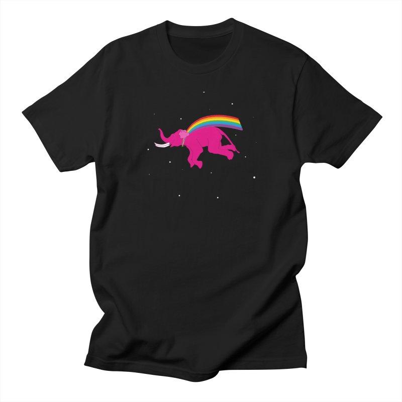 Elephant Hero in Men's Regular T-Shirt Black by Ideographo's Artist Shop