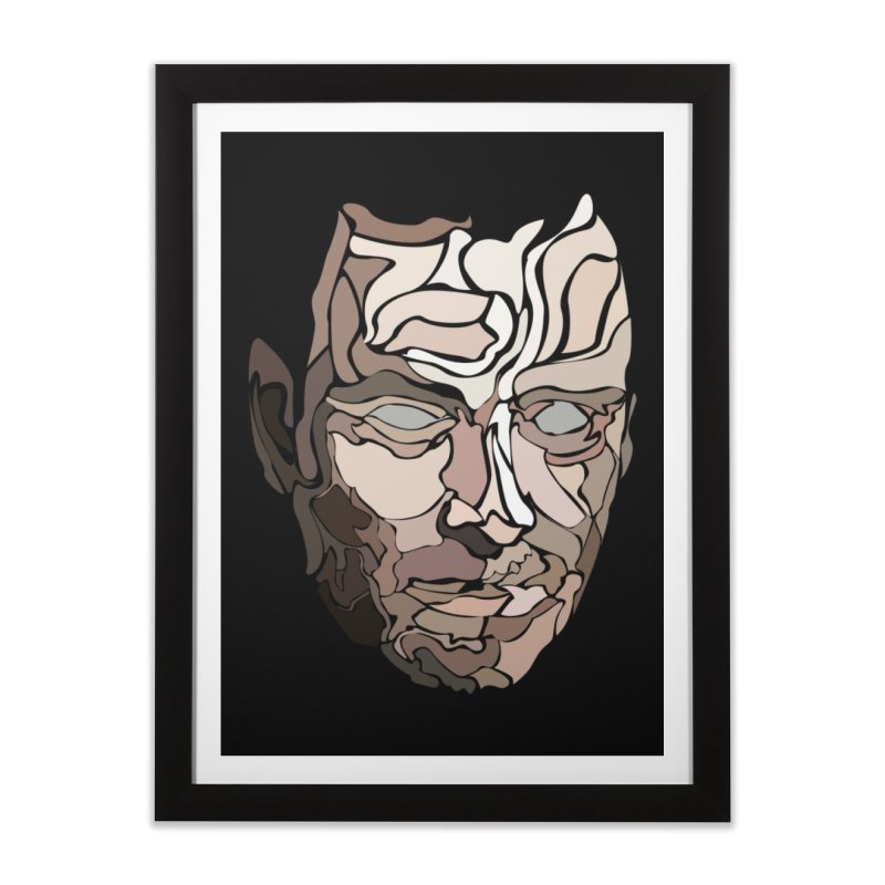 Face II in Framed Fine Art Print Black by Ideographo's Artist Shop