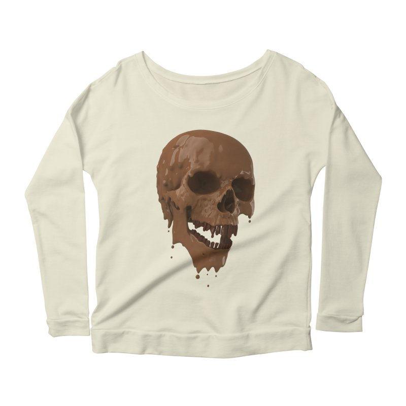 Bitter Teeth Women's Longsleeve Scoopneck  by Ibrahim Dilek's Artist Shop