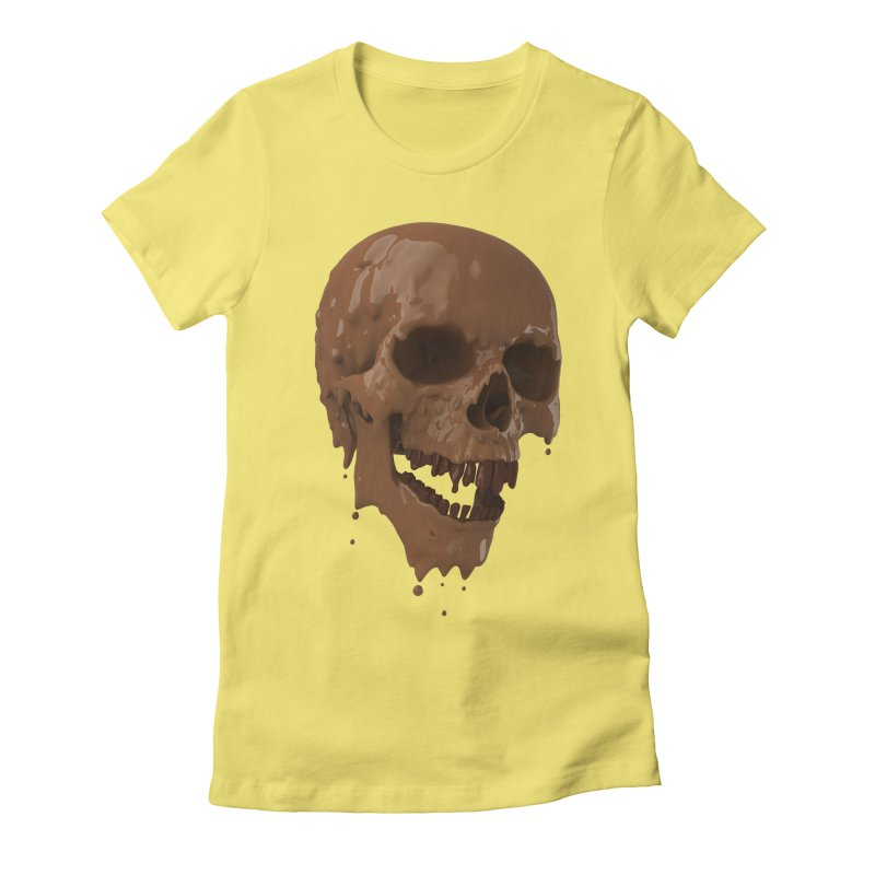 Bitter Teeth Women's Fitted T-Shirt by Ibrahim Dilek's Artist Shop