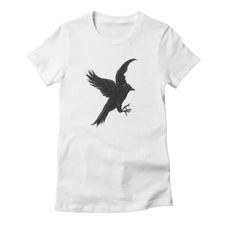Crow & Alfred Women's T-Shirt by Ibrahim Dilek's Artist Shop