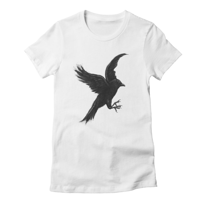 Crow & Alfred Women's Fitted T-Shirt by Ibrahim Dilek's Artist Shop
