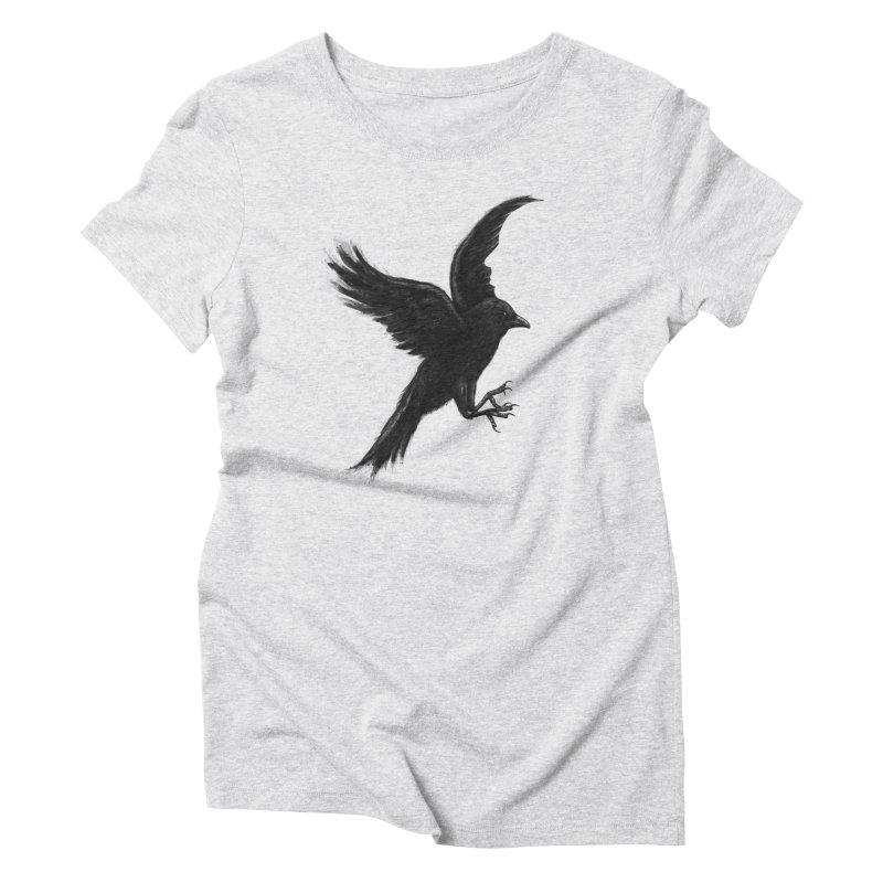 Crow & Alfred Women's Triblend T-shirt by Ibrahim Dilek's Artist Shop
